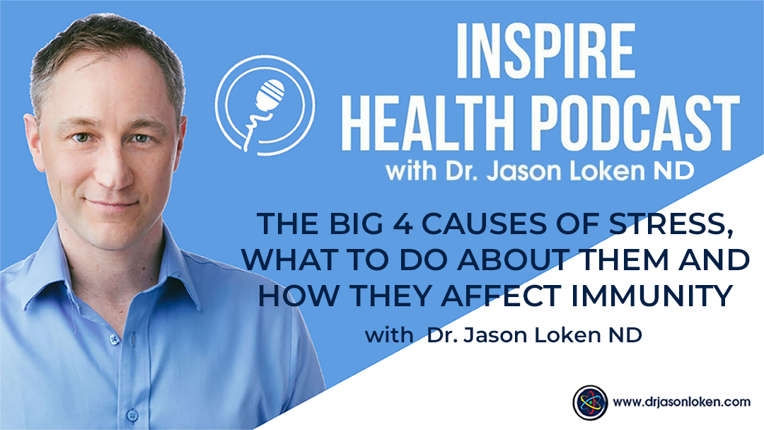 Episode 44: The Big 4 Causes Of Stress, What To Do About Them And How They Affect Immunity with Dr. Jason Loken ND