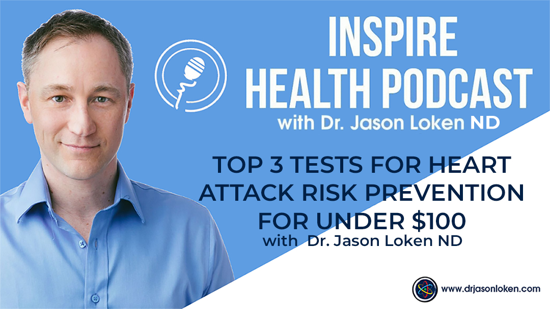 Episode 51: Top 3 Tests For Heart Attack Risk Prevention For Under $100 with Dr. Jason Loken ND